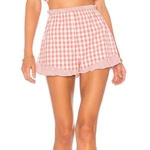NWT Lovers + Friends Gingham Shorts